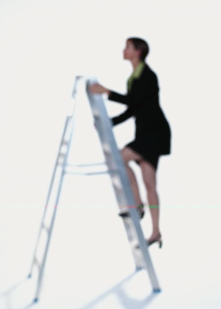 woman achieving business success